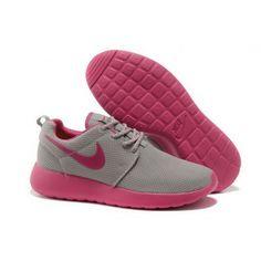 Women Nike Roshe One Shoes Light Gray Peachblossom