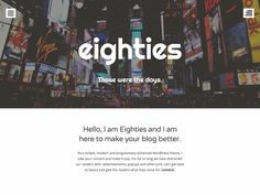 WordPress › Eighties