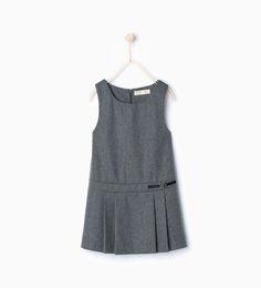 ZARA - KIDS - Box pleat pinafore dress