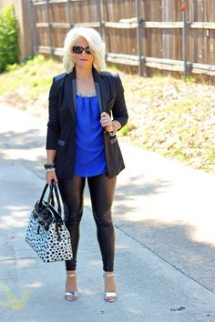 Blazer and Leather