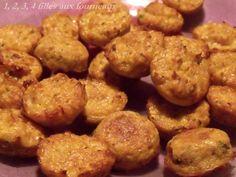 Aujourd'hui, je vous propose de délicieuses petites bouchées apéritives bien gourmandes. Ingrédients (plus de 50 bouchées) : - 60 g de noisettes (Fruits secs du web) (la prochaine fois, j'en mettrai un peu plus) - 150 g de jambon - 4 échalotes - 4 oeufs...