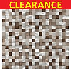 Clearance! Metallico Earth Metal and Glass Mosaic