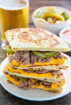 Amazing Loaded Philly Cheesesteak Quesadillas. Let's try ;-) | mother's recipes