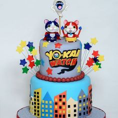 A birthday cake for my sweet boy. Happy Birthday Daniel! #yokaiwatch , #yokaiwatchcake, #customcakes, #funcakes