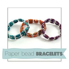 Recycled Paper Bead Bracelets