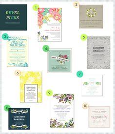 Modern Floral Invites via REVEL