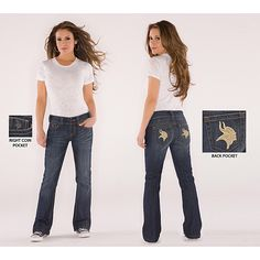 Touch By Alyssa Milano Minnesota Vikings Signature Jeans