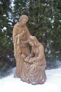 "36"" Outdoor Nativity Scene Christmas Fiberglass Holy Family   eBay"