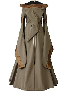 dornbluth.co.uk - medieval dresses.  I can't recall a medieval outerdress/coat hooded that way, but it's a very handsome garment.