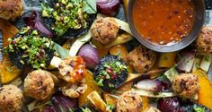 Ok this is for the real cooks out there. Vegetarian or Vegan Christmas Roast with Cranberry, Sage and Cashew Nut Stuffing Balls and Tomato Onion Gravy Christmas Roast, Vegan Christmas, Christmas Recipes, Holiday Foods, Christmas Goodies, Holiday Treats, Christmas Stuff, Christmas Time, Christmas Ideas