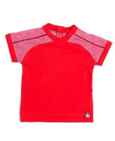 Rood T-shirt met witte strepen - Kik*Kid
