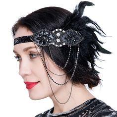 Fascinator Headband 1920s Flapper Gatsby Hair Accessories 130db4dd6332