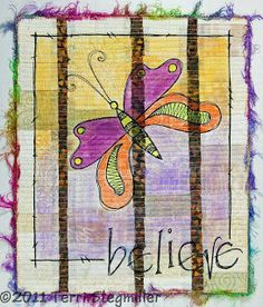 Terri Stegmiller Art Quilts: thread sketching
