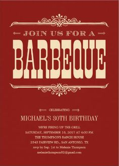 40 best bbq birthday invitations images on pinterest invitations