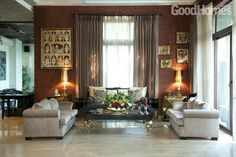 The Bollywood celebrity Raveena Tandon's mansion in the tony suburb of Bandra is laced with elegance and style Indian Room, Indian Home Decor, Interior Decorating, Interior Design, Decorating Ideas, Decor Ideas, English Cottage Style, Ethnic Decor, Storey Homes