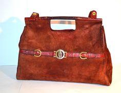 EMILIO PUCCI Vintage Suede Bag / Purse / Shoulder by MySunnyStore, $100.00
