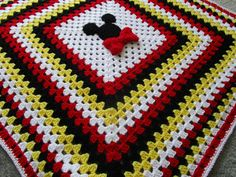 Minnie Mouse Crochet Blanket Mickey Mouse Crochet Blanket