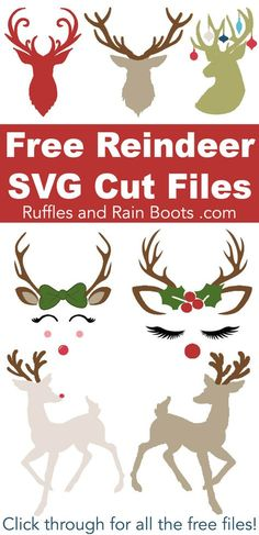 Free Reindeer SVGs and Antler SVGs for Christmas Crafts Free Reindeer SVGs and Antler SVGs for Christmas Crafts,Christmas SVGs and Free Christmas SVGs These free reindeer SVGs and antler cut files will have your. Wine Bottle Crafts, Mason Jar Crafts, Mason Jar Diy, Creative Crafts, Fun Crafts, Paper Crafts, Christmas Svg, Christmas Design, Cricut Projects Christmas