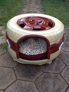 Image Result for tire dog bed