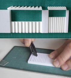 建築模型 スチレンボードから階段を切り出す