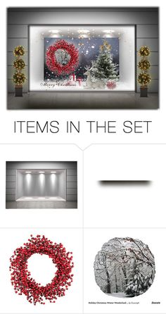 """""""Christmas Window ..."""" by lutgard-m ❤ liked on Polyvore featuring art"""