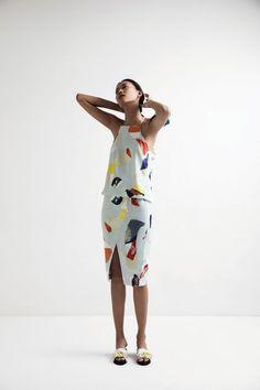 Amara Top-Mara Print & Cain Skirt-Mara Print