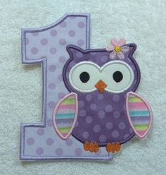 Hey, I found this really awesome Etsy listing at https://www.etsy.com/listing/207259860/number-1-birthday-owl-fabric-embroidered