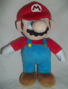 "Super Mario Brothers Nintendo 10"" Stuffed Animal Plush Toy 2012 Character Game 