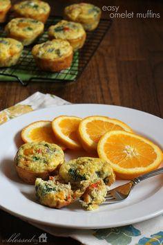 Healthy Breakfast Ideas   Easy Omelet Muffins   MyBlessedLife.net