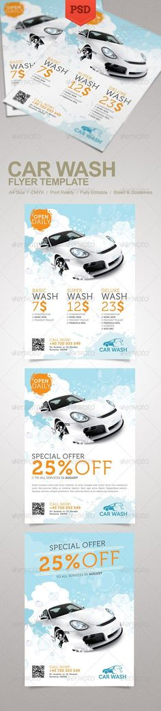 17 Car polish & Car Wash Marketing Templates