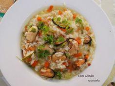 Cinco sentidos na cozinha: Arroz com courgette, cenoura e mexilhão