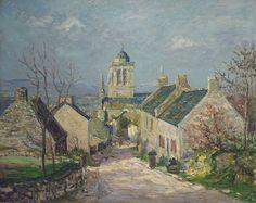 Maxime Maufra - Rue descendante à Locronan (1906)