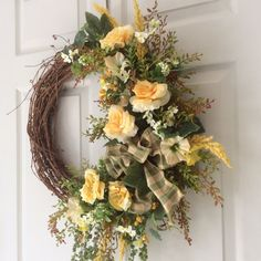Summer Wreath-Designer Wreath-Summer Wreath for by ReginasGarden