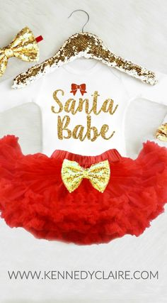 Sparkly Christmas Outfit for the most GLAMOROUS little Girls! The PERFECT baby girl Christmas Outfit for the holiday Festivities! Ring in the Holidays in style and let her be the belle of the ball in this outfit newbornchristmas Christmas Tutu, Girls Christmas Outfits, Newborn Christmas, Baby Girl Christmas, Valentines Outfits, Toddler Christmas, Holiday Outfits, Christmas Eve, Baby Fancy Dress