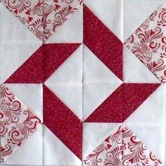 Balkan Puzzle Block--love the red & white