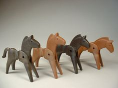 old style playmobil - oh my. When I had these my imagination was so good they looked like real horses.....