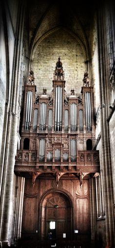 Grand orgue de la cathédrale du Mans. © Copyright Yves Philippe