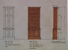 This photo shows a rendering of a bookcase designed as part of a custom home office I designed and built for a home in Marblehead Mass. #davidklenk, #customfurniture Home Office Furniture, Fine Furniture, Custom Furniture, Built Ins, Custom Homes, My Design, Bookcase, Tower, Bespoke Furniture