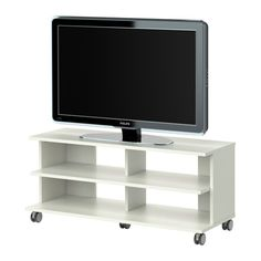 """BENNO TV unit with casters - white - IKEA  •Dimensions ◦Width: 46 1/2 """"  ◦Depth: 16 1/2""""  ◦Height 20 1/8"""""""
