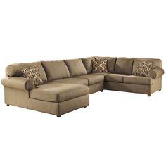 Amazon.com - Flash Furniture Cowan Sectional Sofa, Cafe Fabric -
