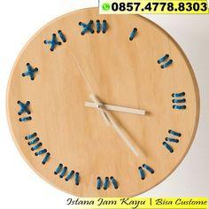 Jam Dinding Kayu Jati Minimalis dbd12a5aa1
