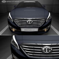 BRENTHON High Quality Front & Rear NEW Emblem for Hyundai Sonata LF 2014 CHROME #BRENTHON