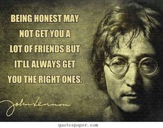 Being honest
