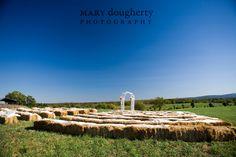 cute barn wedding ceremony