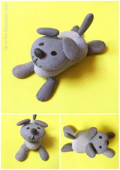 фигурка из камней - щенок