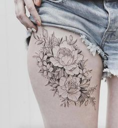 sexy thigh tattoos for women