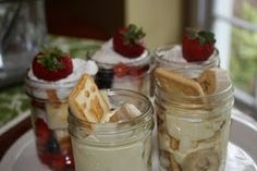 mason jar desserts ALWAYS tast better!