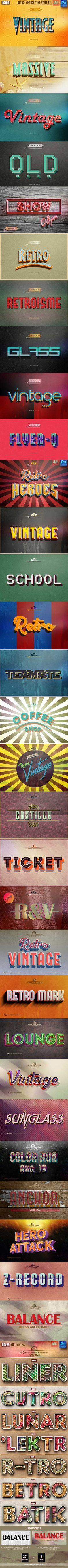 37 Retro & Vintage Style Bundle #psd #photoshop #old text • Download ➝ https://graphicriver.net/item/37-retro-vintage-style-bundle/12947171?ref=pxcr