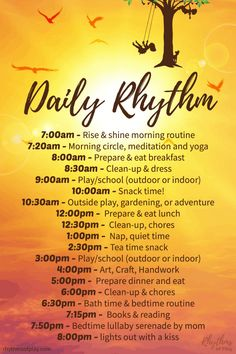 How to Plan a Powerful Daily Routine or Rhythm