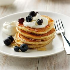 American pancakes, fluffier than the English classic. An easy pancake recipe from www.redonline.co.uk
